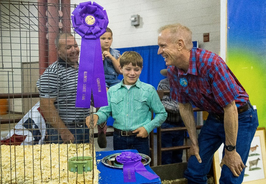Governor Bruce Rauner at the Illinois State Fair - TED SCHURTER/THE STATE JOURNAL-REGISTER VIA AP