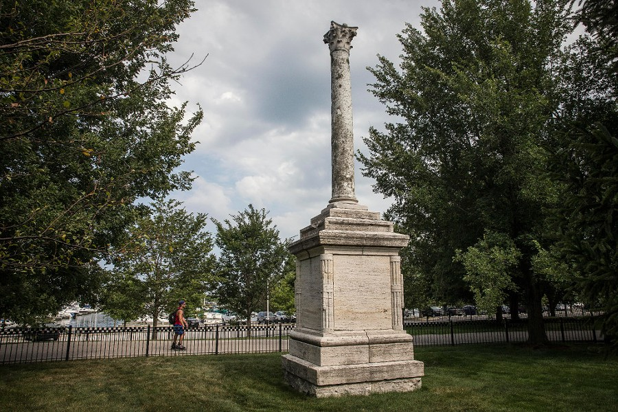 The Balbo monument just east of Soldier Field, near Burnham Harbor - RICH HEIN/SUN-TIMES