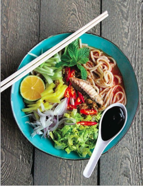 A bowl of the Malaysian noodle dish asam laksa - COURTESY DILL MAGAZINE