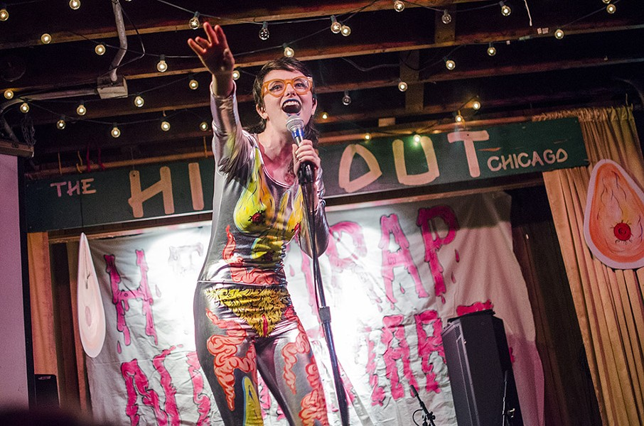 Sarah Sherman is the ringmaster for Helltrap Nightmare, a circus of alternative comedy and music at the Hideout on Saturday 8/26. - COURTESY OF THE HIDEOUT