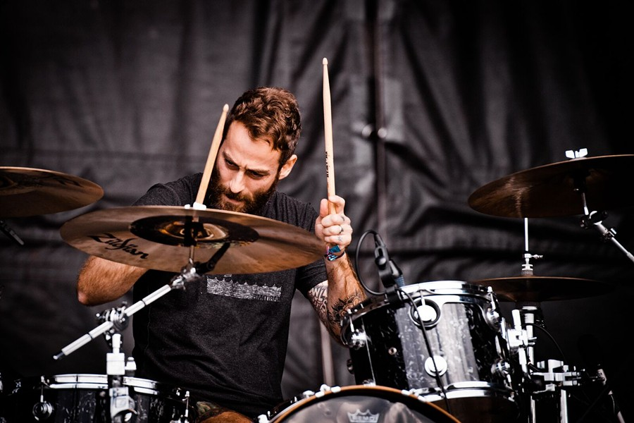 Drummer Mike Kinsella - ALISON GREEN
