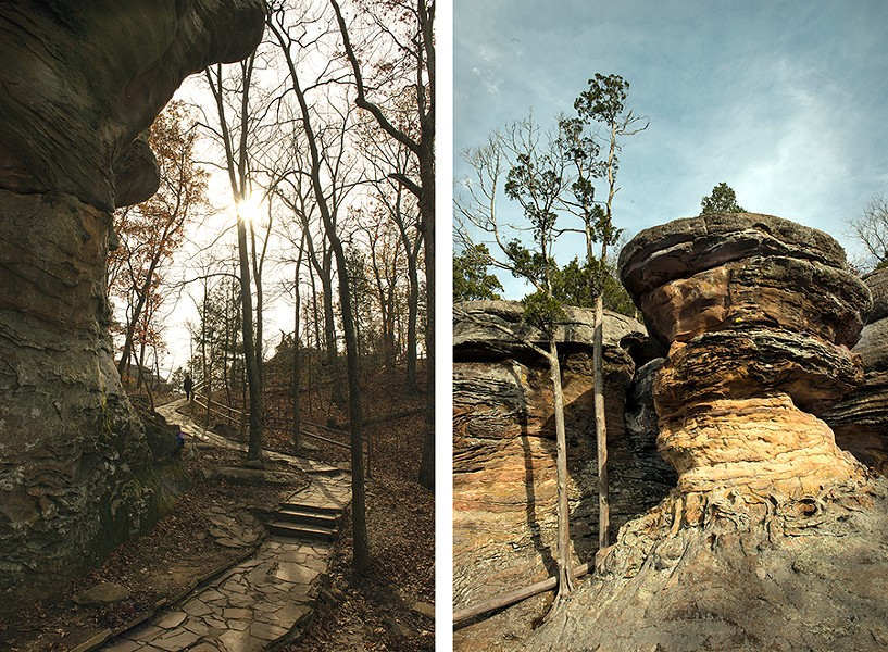 Garden of the Gods Wilderness in the Shawnee National Forest near the Vinyard Indian Settlement in southern Illinois - NEETA SATAM