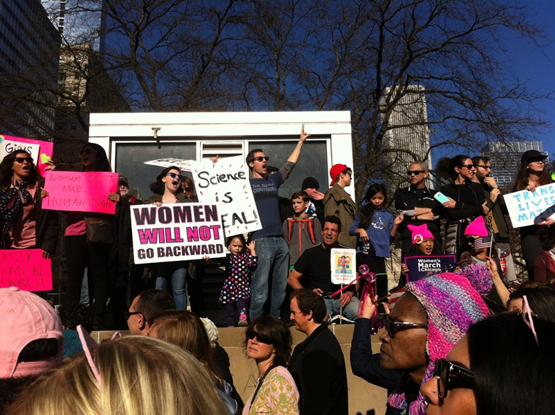 At the Chicago Women's March, January 21, 2017 - SUE KWONG