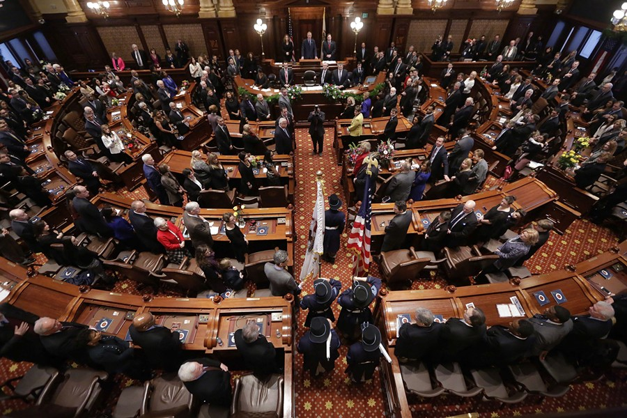 The Illinois senate chamber - AP PHOTO/SETH PERLMAN FILE