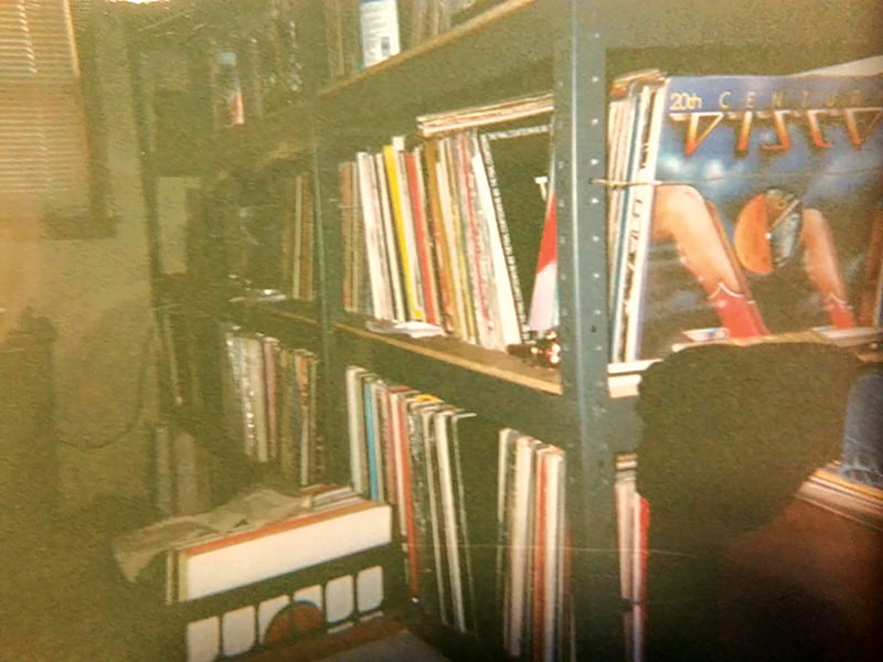 Grusane's record collection when he was 15 years old - COURTESY OF MARK GRUSANE