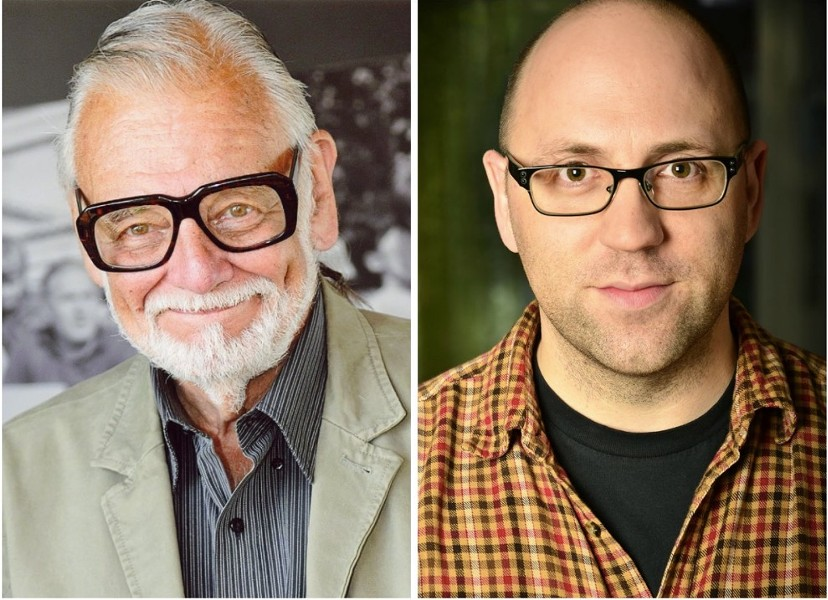 George A. Romero (l) and Daniel Kraus - IMAGE VIA TWITTER
