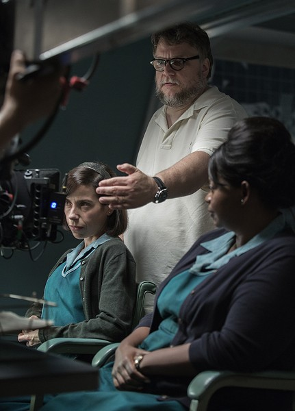 Del Toro on set with Sally Hawkins and Octavia Spencer - KERRY HAYES
