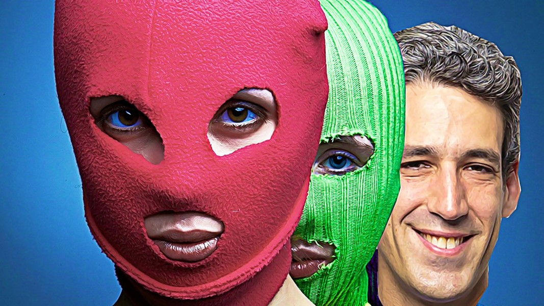 Proposed poster for Pussy Riot and Daniel Biss - ILLUSTRATION BY RYAN SMITH
