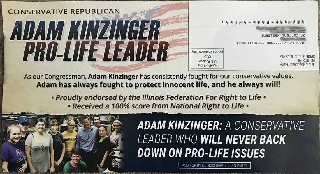 The Voluntary Action Center of DeKalb County said it did not give permission to use the photo (bottom left) taken during a visit by Congressman Adam Kinzinger.
