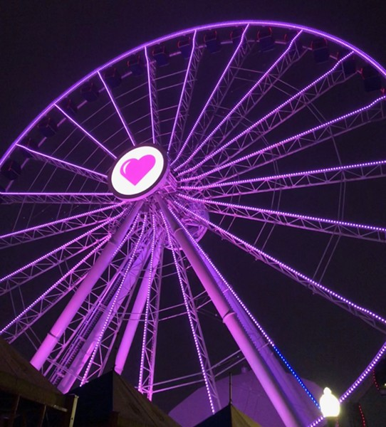 Navy Pier's Centennial Wheel decked out for Spinning Singles