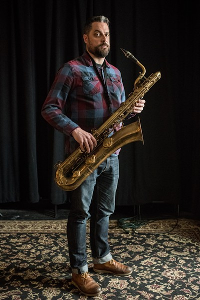Dave Rempis at Elastic Arts, where he programs a long-running Thursday improvised-music series - CENGIZ YAR