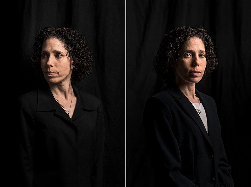 """""""I'm looking at people so closely that I know who has a gun on and who doesn't,"""" says Shahna Richman. - JON SHAFT"""