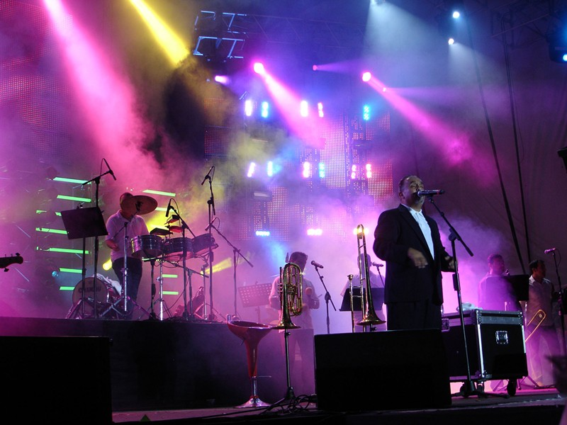 Willie Colón performs in Colombia in 2011. - LUIS QUINTANA BARNEY