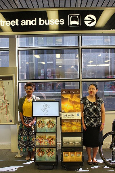 Jehovah's Witnesses at the CTA's Roosevelt station - CHICAGO SPECIAL METROPOLITAN PUBLIC WITNESSING