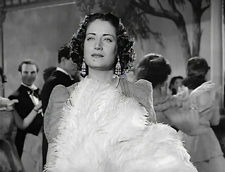 "Asmahan in the 1944 film Gharam wa Intiqam (""Passion and Revenge"")"