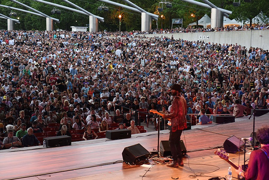 Gary Clark Jr. onstage at Pritzker Pavilion during the 2017 Chicago Blues Festival - COURTESY OF THE CITY OF CHICAGO