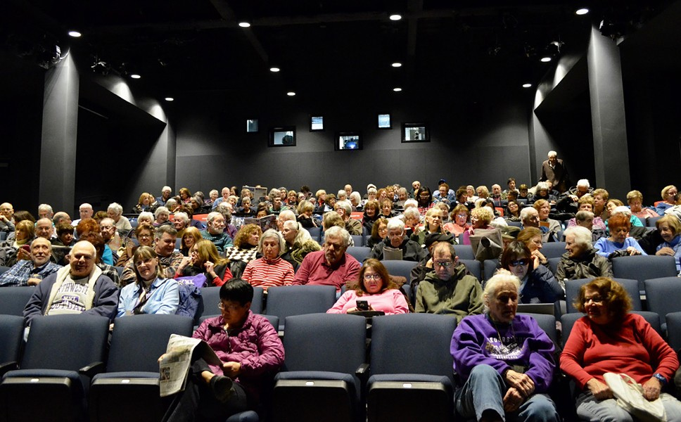 The public turned out for the library's screening of the Oscar-award winning film The Shape of Water in March - NORTHBROOK PUBLIC LIBRARY