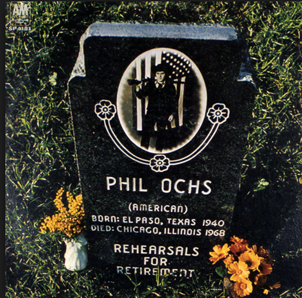 The cover of Phil Ochs's 1969 album Rehearsals for Retirement