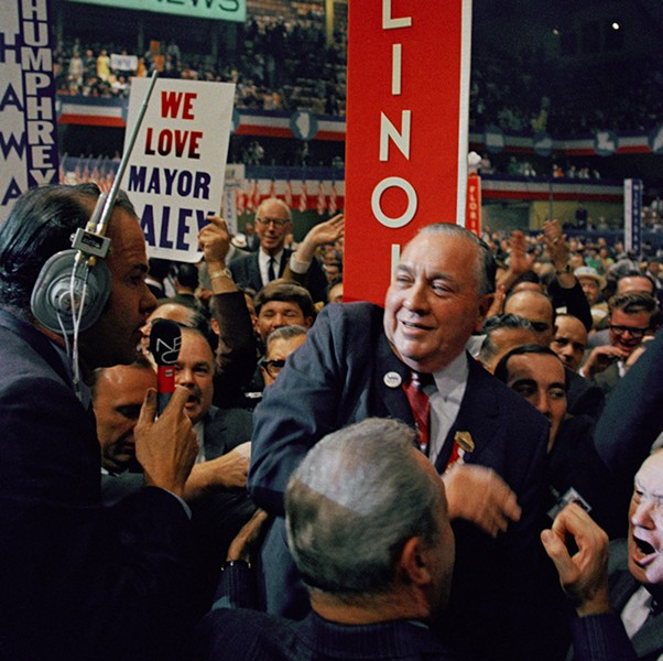 Mayor Richard J. Daley on the floor during the final session at the Democratic National Convention in Chicago 1968. - AP PHOTO