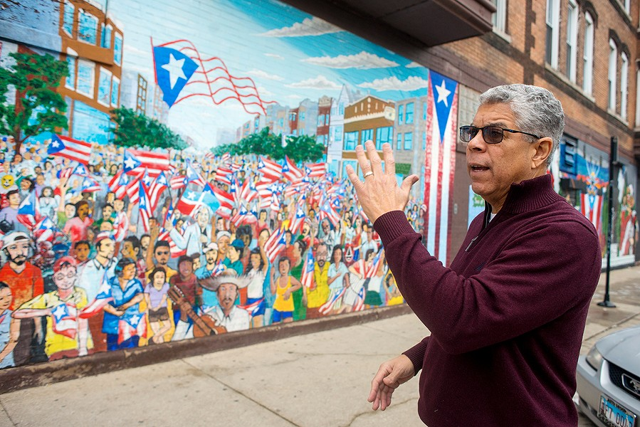 """""""We want to preserve this as a space for Puerto Rican families,"""" says 26th Ward alderman Roberto Maldonado. He supports lifting the ban on rent control. """"In order to motivate landlords to go along this path we need to provide incentive to upkeep property. A board should be established that would be comprised of people that know the neighborhood."""" - KATHLEEN HINKEL"""