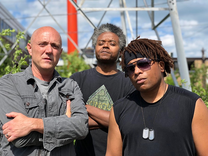 The Moses Gun: Jim Kendall, Vell Mullens, and Rich Harris - PHOTO BY NATÉ DAVEINE
