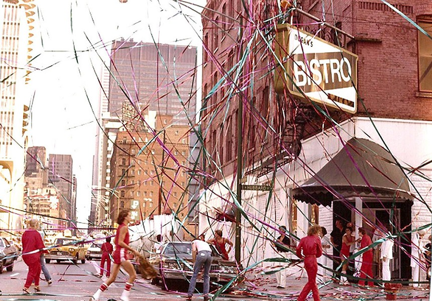 Dugan's Bistro decked out for its sixth anniversary party in 1979 - COURTESY DANIEL GOSS