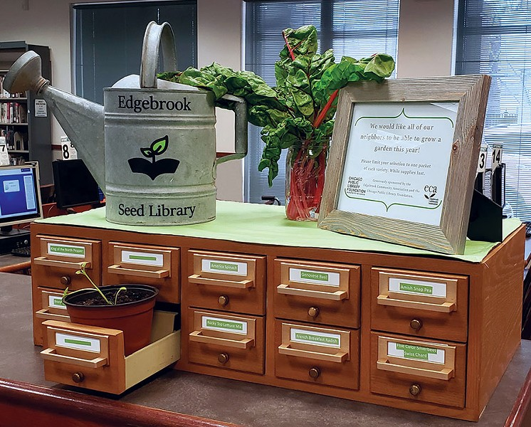 Edgebrook seed library - CHICAGO PUBLIC LIBRARY