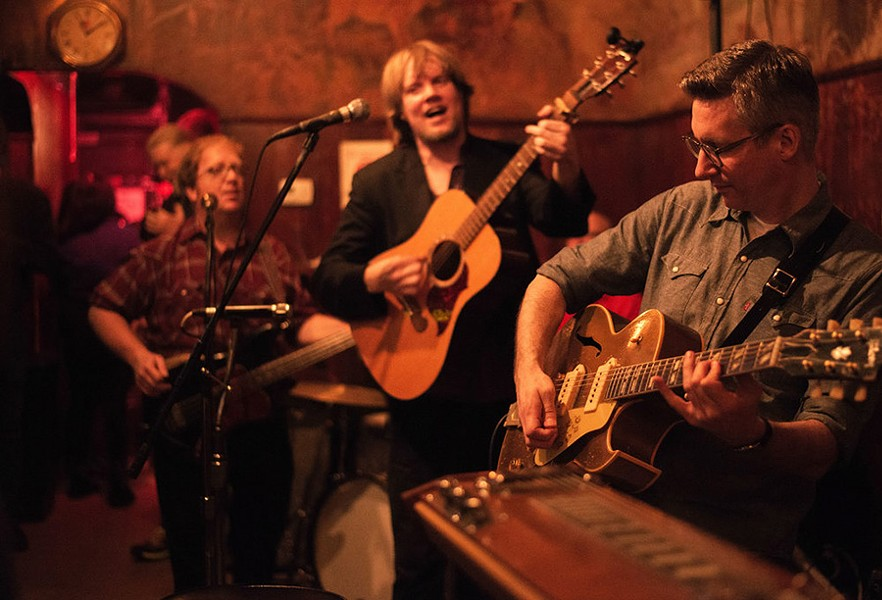 The Western Elstons, pictured here at Simon's Tavern, play Saturday at the daylong Maypole Folk Festival. - REBECCA CIPRUS