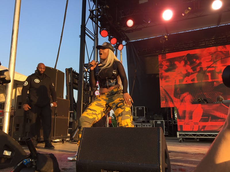 Megan Thee Stallion performed in the slot originally scheduled for A Boogie Wit da Hoodie, which worked out great for everybody except the people trying to see her actual set. - LEOR GALIL
