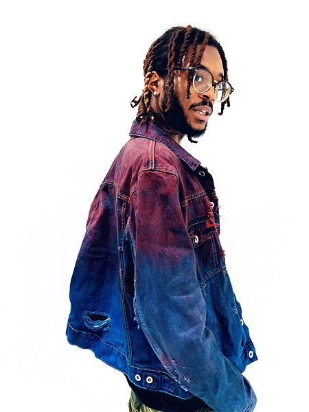 Hand-dyed and -distressed jacket by Ron Louis - DEREK MACHAK