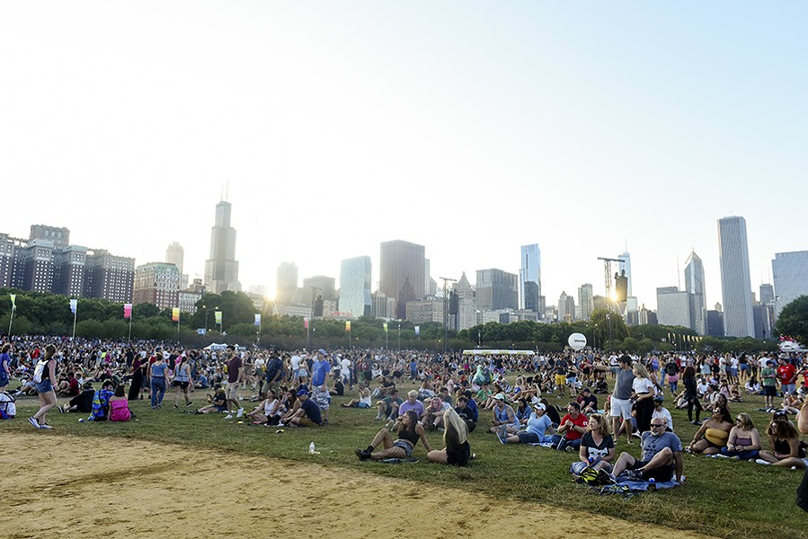 The baseball fields in Grant Park on the first day of Lollapalooza - KATHLEEN HINKEL