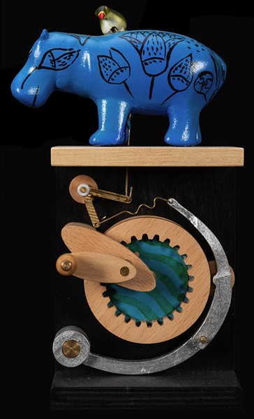 Tick Bird Visits the Museum Automaton, Philip Lowndes, 2015. - POTTER & POTTER AUCTIONS, INC.