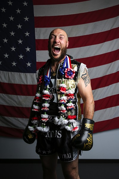 "Richard Abraham, 33, professional fighter and owner of Maximus Muay Thai and Fitness - ""This year, we took seven people to the TBAs [Thai Boxing Association tournament], which is the biggest Muay Thai Tournament in North America, and five of our guys won. We killed it. In that [training] camp, I really gave to them the most I've ever given to any camp that I've ever had, even as a fighter. I was physically exhausted after; I'll never forget that. I needed a week just to myself. I felt like I just went through a fight. But with those guys, I have spent so much time, not only physically training them, but mentally and emotionally preparing them for battle. Just having talks, you know, night and day on the phone, calling them in the morning like, 'Hey, you doing OK?' Just making sure that their mind frame was ready and their visualization was on point. I felt like I figured what it takes to be a good coach. I grew up training myself, so this was very different."" - GEOFF STELLFOX"