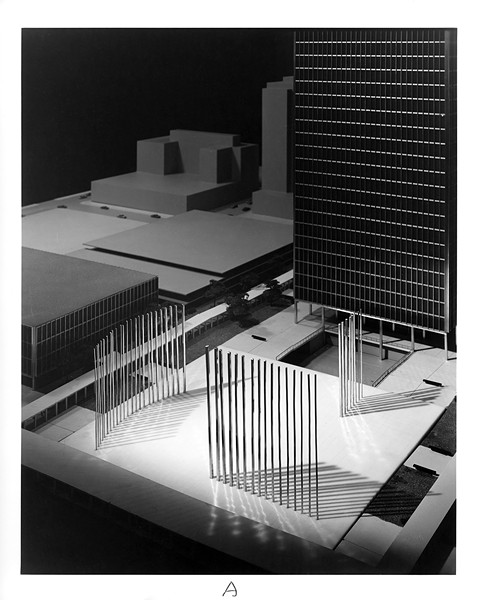 Models for Skidmore, Owings & Merrill's entry in the Fermi competition, June 14, 1957 - HB-20354-A; CHICAGO HISTORY MUSEUM; HEDRICH-BLESSING COLLECTION.
