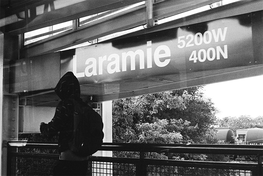 A young man exits at Laramie. - W.D. FLOYD FOR CHICAGO READER