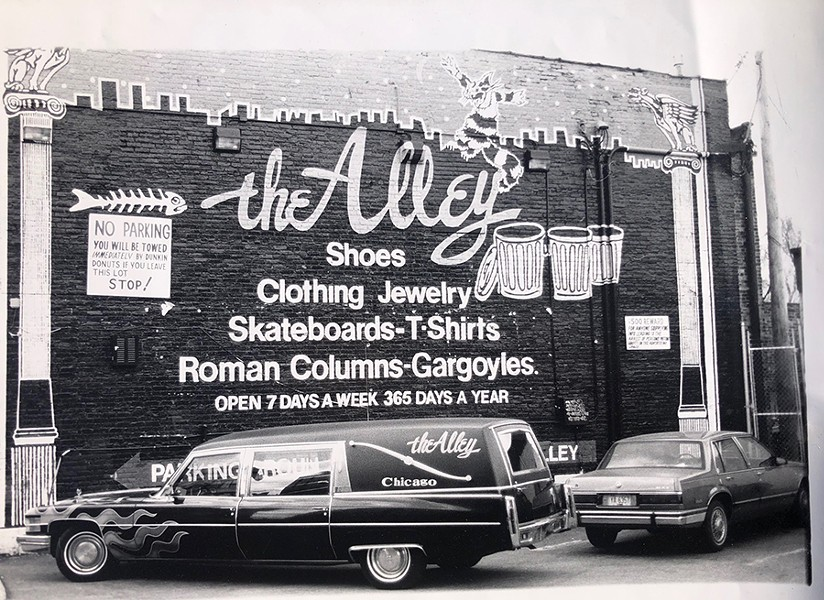 Mark Thomas of the Alley took this photo from the Punkin' Donuts parking lot in the 90s. - MARK THOMAS