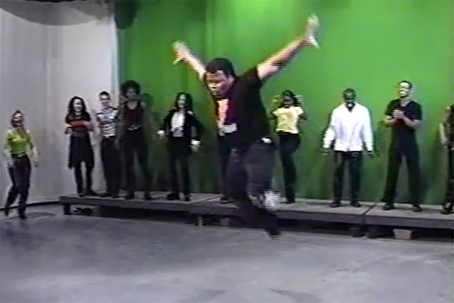 "Melvin ""the Alexander"" Dunlap showing off his moves in 1997 - COURTESY ANDREW KITCHEN AND MELVIN DUNLAP"