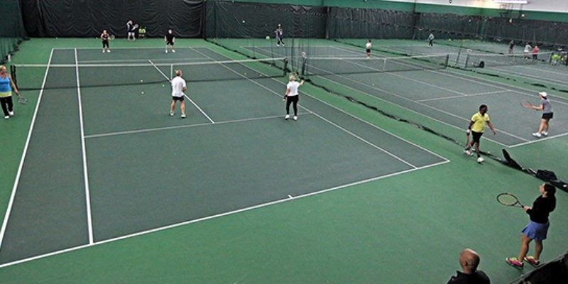 Best affordable indoor tennis club