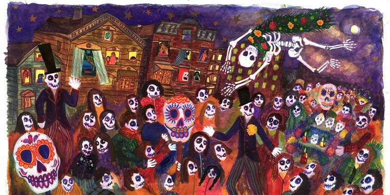 The Neighborhood/El Barrio by Bianca Diaz at the Museum of Mexican Art