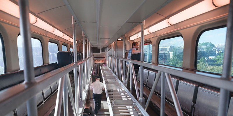 The low pleasures of the Metra train's top floor