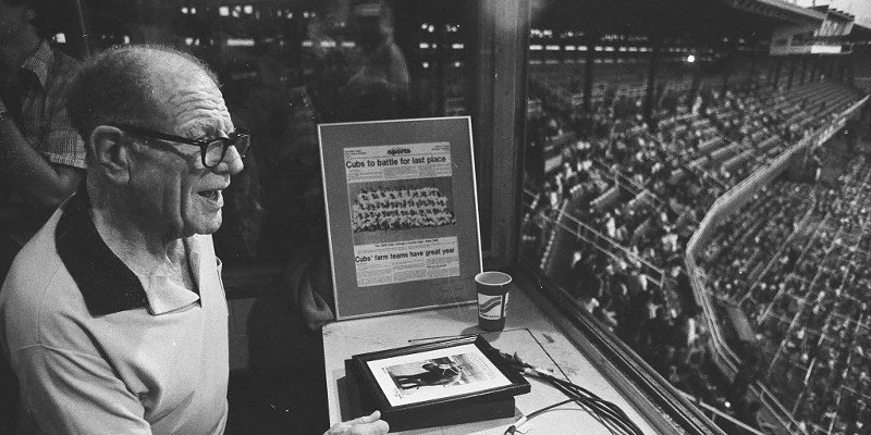 Bill Veeck at Comiskey Park, 1980
