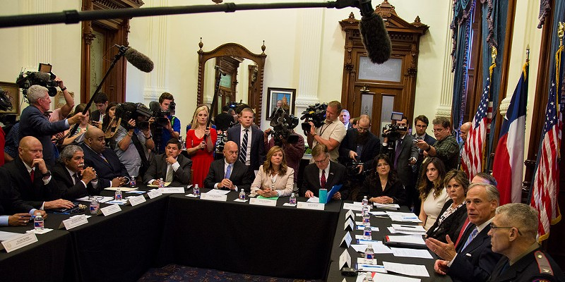 Texas governor Gregg Abbott hosted a roundtable discussion on school safety at the capitol in Austin earlier this week in response to last week's shooting in Santa Fe.