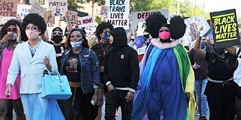 Drag March for Change in June 2020