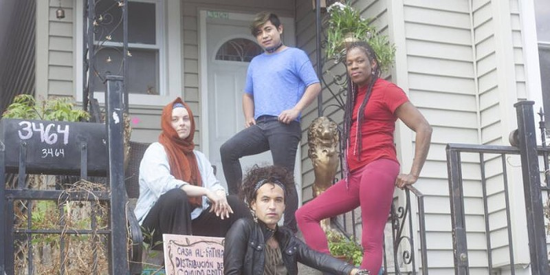 A DIY music space transforms into a home for asylum seekers