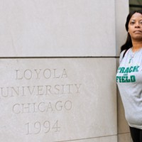 One voucher holder's long ride 9:15 AM: Weaver finally arrives at Loyola University's downtown law school campus. On Wednesday she'll head back to Mattoon and start the cycle again. Sunshine Tucker