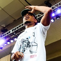 Chance the Rapper, Donnie Trumpet, and the Roots at Taste of Chicago Chance makes a subtly political statement, wearing a t-shirt that denotes the time, place, and date of the assassination of Martin Luther King, Jr. Bobby Talamine