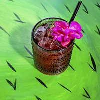 Mi Tocaya The Chicana, made with hibiscus-infused mezcal, gin, and Chartreuse Nick Murway