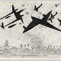 """""""Along the Lines: Selected Drawings by Saul Steinberg Bombing, China, 1945 Gift of the Saul Steinberg Foundation"""