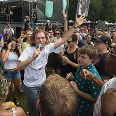 Jimmy Whispers at Pitchfork Music Festival prior to his 826Chi interview
