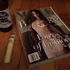 This is how a plebeian reads Vogue.